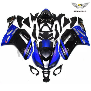 NT Aftermarket Injection ABS Plastic Fairing Fit for ZX6R 636 2007-2008 Blue Black N037