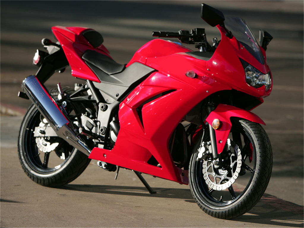 NT Aftermarket Injection ABS Plastic Fairing Fit for EX250 2008-2012 Red N008 Available in CA, TX, KY