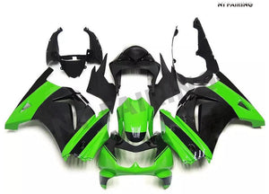 NT Aftermarket Injection ABS Plastic Fairing Fit for EX250 2008-2012 Green Black N056 Available in TX