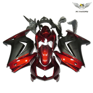 NT Aftermarket Injection ABS Plastic Fairing Fit for EX250 2008-2012 Red Gray N065 Available in IL