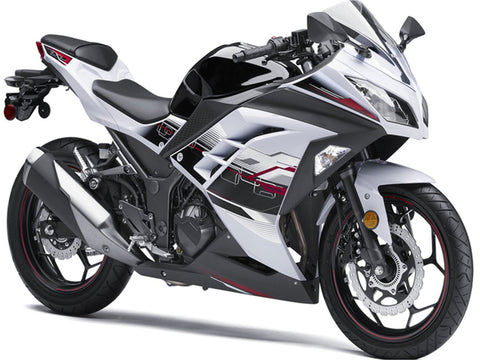 NT Aftermarket Injection ABS Plastic Fairing Fit for EX300 2013-2016 White Black N012 Available in TX IL