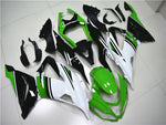 NT Aftermarket Injection ABS Plastic Fairing Fit for ZX6R 636 2013-2016 Green White Black N005 Available in TX IL