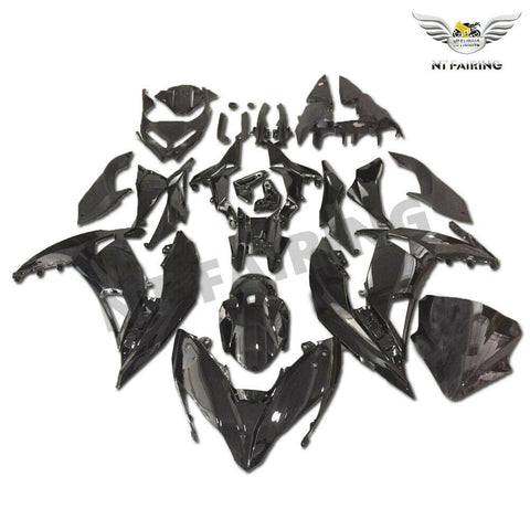 NT Aftermarket ABS Plastic Fairing Fit for EX650R 2017-2019 Glossy Black N003 Available in TX