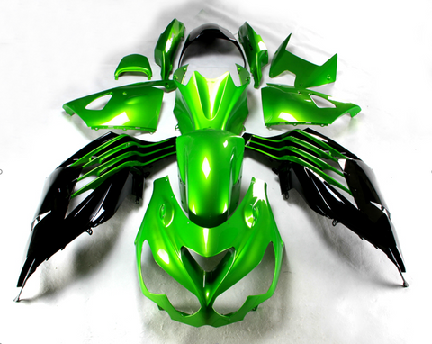 NT Aftermarket Injection ABS Plastic Fairing Fit for ZX14R 2012-2017 Green Black N002