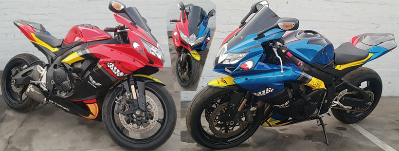 NT Aftermarket Injection ABS Plastic Fairing Fit for GSXR 600/750 2008-2010 Red Blue Shark NT0001