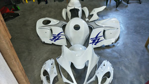 NT Aftermarket Injection ABS Plastic Fairing Fit for GSXR 1300 Hayabusa 2008-2016 White Blue N1921