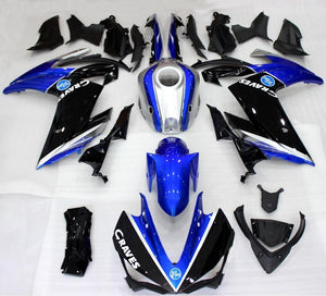 NT Aftermarket Injection ABS Plastic Fairing Fit for YZF R3 2014-2018 R25 2015-2017 Blue Black Silver N0001