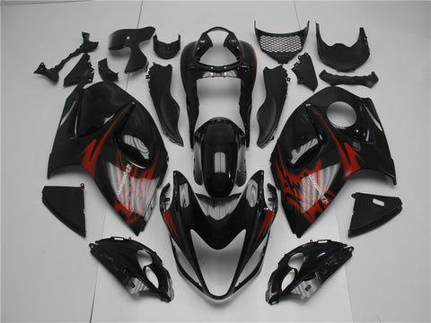 NT Aftermarket Injection ABS Plastic Fairing Fit for GSXR 1300 Hayabusa 2008-2016 Black Red N006