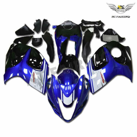 NT Aftermarket Injection ABS Plastic Fairing Fit for GSXR 1300 Hayabusa 2008-2016 Blue White Black N018 Available in CA