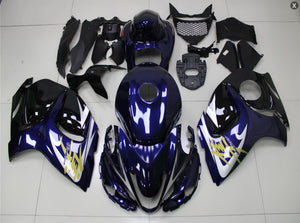NT Aftermarket Injection ABS Plastic Fairing Fit for GSXR 1300 Hayabusa 2008-2016 Blue White N064 Available in TX