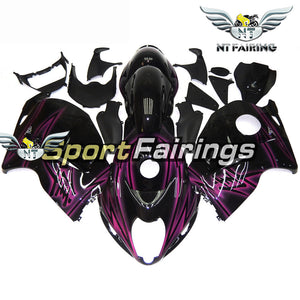 NT Aftermarket Injection ABS Plastic Fairing Fit for GSXR 1300 Hayabusa 1997-2007 Purple Black N063