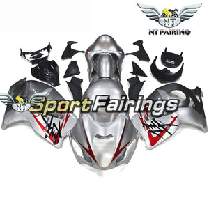 NT Aftermarket Injection ABS Plastic Fairing Fit for GSXR 1300 Hayabusa 1997-2007 Silver Red N083