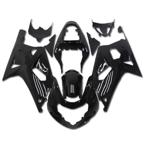 NT Aftermarket Injection ABS Plastic Fairing Fit for GSXR 600/750 2001-2003 Glossy Black N001 Available in TX