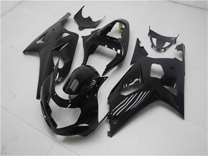 NT Aftermarket Injection ABS Plastic Fairing Fit for GSXR 600/750 2001-2003 Glossy Black N001 Available in TX, IL