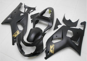 NT Aftermarket Injection ABS Plastic Fairing Fit for GSXR 600/750 2001-2003 Matte Black N068 Available in TX