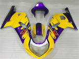 NT Aftermarket Injection ABS Plastic Fairing Fit for GSXR 600/750 2001-2003 Yellow N009