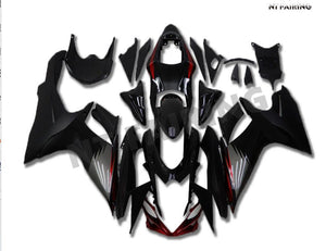 NT Aftermarket Injection ABS Plastic Fairing Fit for GSXR 600/750 2011-2016 Black Gray N002