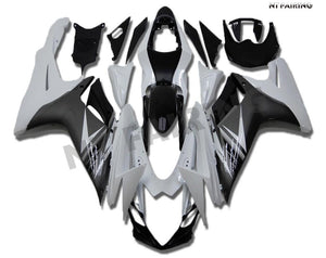 NT Aftermarket Injection ABS Plastic Fairing Fit for GSXR 600/750 2011-2016 White Gray N007 Available in IL