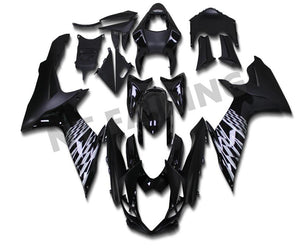 NT Aftermarket Injection ABS Plastic Fairing Fit for GSXR 600/750 2011-2016 Glossy Matte Black N004