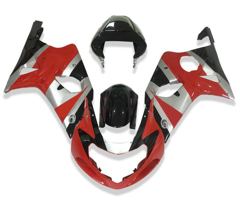 NT Aftermarket Injection ABS Plastic Fairing Fit for GSXR 1000 2000-2002 Red Black N015