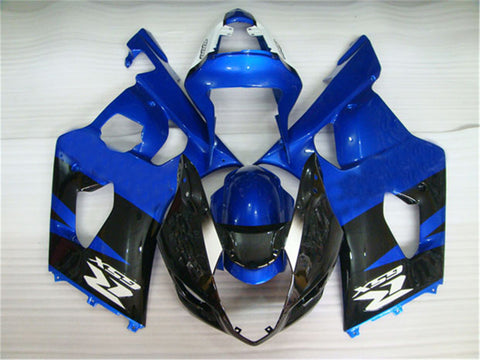 NT Aftermarket Injection ABS Plastic Fairing Fit for GSXR 1000 2003-2004 Black Blue N018