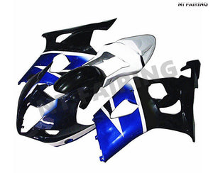 NT Aftermarket Injection ABS Plastic Fairing Fit for GSXR 1000 2003-2004 Blue White Black N033 Available in TX