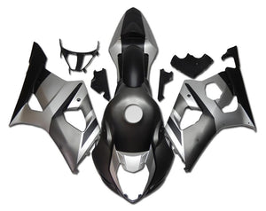 NT Aftermarket Injection ABS Plastic Fairing Fit for GSXR 1000 2003-2004 Matte Black Gray N002