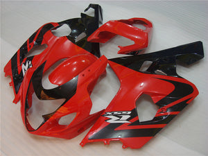 NT Aftermarket Injection ABS Plastic Fairing Fit for GSXR 600/750 2004-2005 Red Black N003