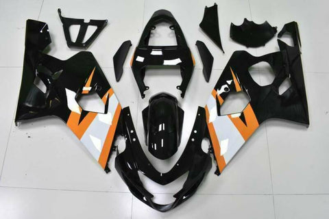 NT Aftermarket Injection ABS Plastic Fairing Fit for GSXR 600/750 2004-2005 Orange Black N031 Available in IL