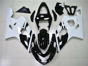 NT Aftermarket Injection ABS Plastic Fairing Fit for GSXR 600/750 2004-2005 White Black N034