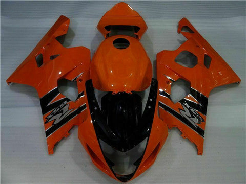 NT Aftermarket Injection ABS Plastic Fairing Fit for GSXR 600/750 2004-2005 Orange Black N064 Available in TX