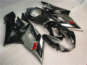 NT Aftermarket Injection ABS Plastic Fairing Fit for GSXR 1000 2005-2006 Black Gray N004