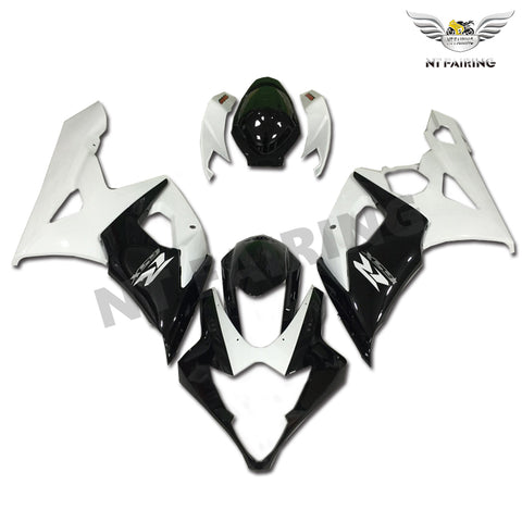 NT Aftermarket Injection ABS Plastic Fairing Fit for GSXR 1000 2005-2006 Black White N014 Available in TX