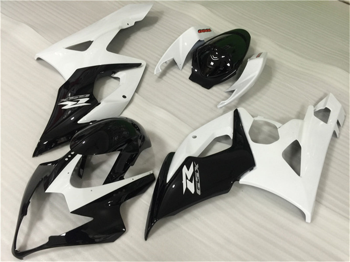 NT Aftermarket Injection ABS Plastic Fairing Fit for GSXR 1000 2005-2006 Black White N014