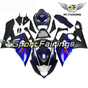 NT Aftermarket Injection ABS Plastic Fairing Fit for GSXR 1000 2005-2006 Blue Black N072