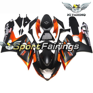 NT Aftermarket Injection ABS Plastic Fairing Fit for GSXR 1000 2005-2006 Orange Black N073