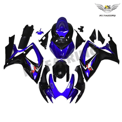 NT Aftermarket Injection ABS Plastic Fairing Kit Fit for GSXR 600/750 2006 2007 Blue Black N001