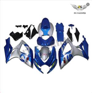 NT Aftermarket Injection ABS Plastic Fairing Fit for GSXR 600/750 2006-2007 Blue Silver N124 Available in TX