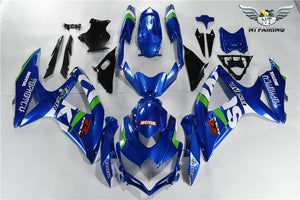 NT Aftermarket Injection ABS Plastic Fairing Fit for GSXR 600/750 2008-2010 Blue White Green N093
