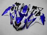NT Aftermarket Injection ABS Plastic Fairing Fit for GSXR 600/750 2008-2010 White Blue N007