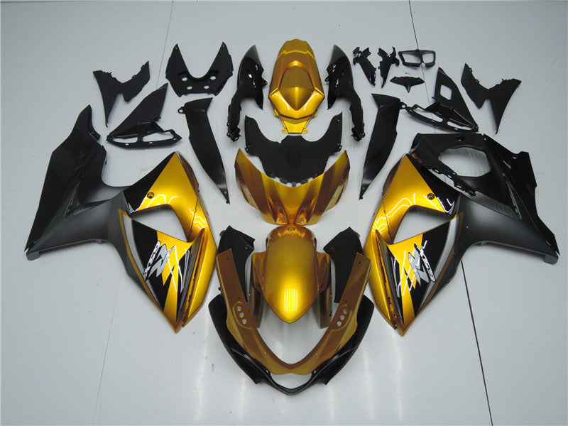 NT Aftermarket Injection ABS Plastic Fairing Fit for GSXR 1000 2009-2016 Golden Black N038