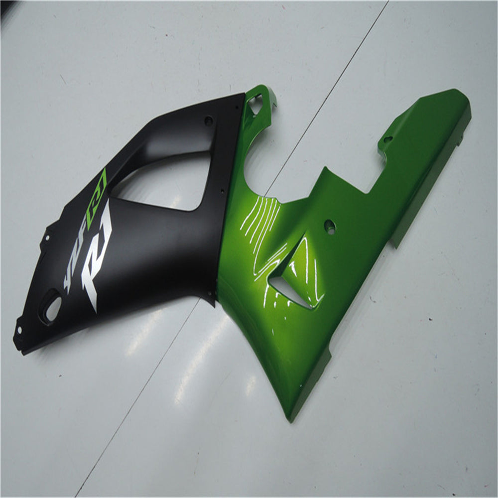 NT Aftermarket Injection ABS Plastic Fairing Fit for YZF R1 2000-2001 Green Black N003