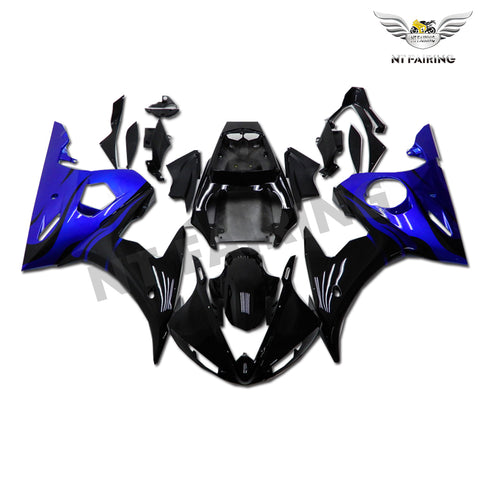 NT Aftermarket ABS Plastic Injection Fairing Kit Fit for YZF R6 2003-2005 Blue Black N044