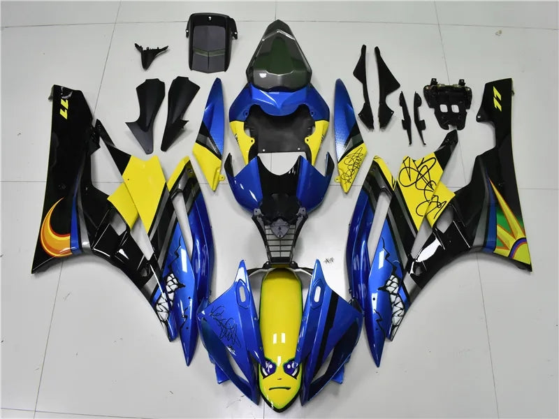 NT Aftermarket Injection ABS Plastic Fairing Fit for YZF R6 2006-2007 Blue Shark N066