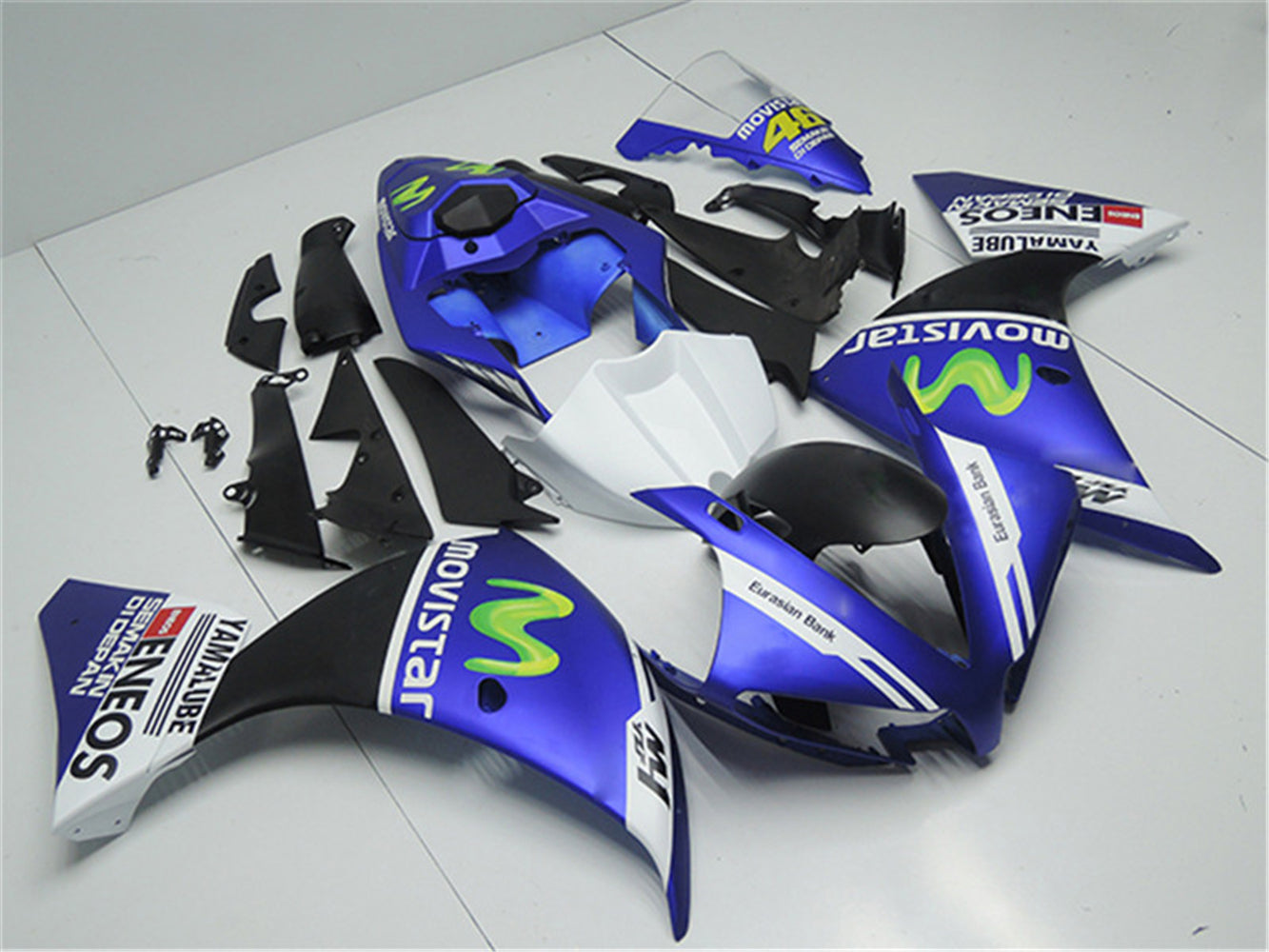 NT Aftermarket Injection ABS Plastic Fairing Fit for YZF R1 2012-2014 Blue White Black N002