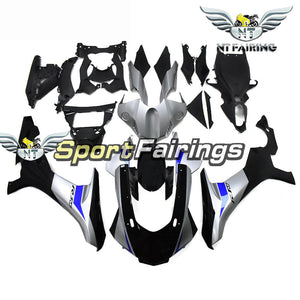 NT Aftermarket Injection ABS Plastic Fairing Fit for YZF R1 2015-2017 Black Silver N036