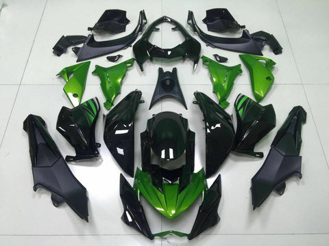 NT Aftermarket Injection ABS Plastic Fairing Fit for Z800 2013-2016 Green Black N002