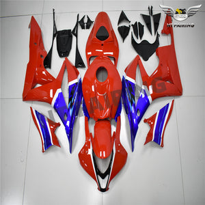 NT-FAIRING Fairing Kit Fit for HONDA Blue Red 2001 2002 2003 2004 2005 2006 2007 2008 2009 2010 2011 2012 2013 2014 2015 2016 2017 2018 CBR600F4I  CBR600RR CBR1000RR CBR929RR CBR954RR Injection Mold ABS New Color Scheme(2020 CBR1000RR-R Color Scheme)