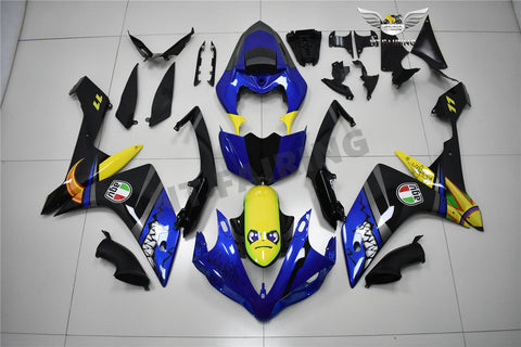 NT Aftermarket Injection ABS Plastic Fairing Fit for YZF R1 2007-2008 Blue Shark PT04