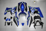 NT Aftermarket Injection ABS Plastic Fairing Fit for GSXR 1000 2017-2019 Blue White Green PT03